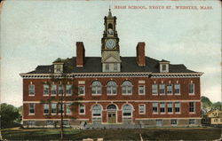 High School, Negus Street Postcard