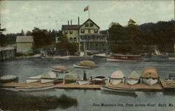 New Meadows Inn, from across River