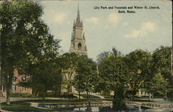 City Park and Fountain and Winter Street Church