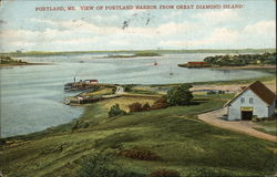 View of Portland Harbor from Great Diamond Island