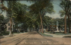 State Street, Looking North from Monument Square, showing Soldier's Monument