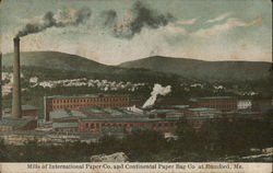 Mills of International Paper Co. and Continental Paper Bag Co. Postcard