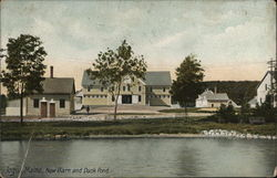 New Barn and Duck Pond Postcard