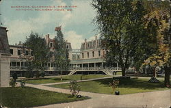 Barracks Quadrangle Rear View, National Soldiers' Home Postcard