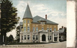 Haskell Free Library, Rock Island Que and Derby Line, Vt. Postcard