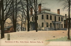Residence of Mrs. Hetty Green