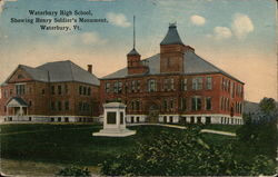Waterbury High School, Showing Henry Soldier's Monument