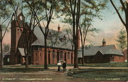First Congregational Church and Chapel Postcard