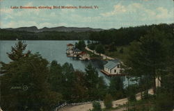 Lake Bomoseen Showing Bird Mountain Postcard