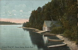 Island Pond, Vt., Shore Scene, Birch Point