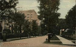 North Street at Delaware Avenue Showing Hotel Lenox