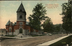 First Baptist Church and Chestnut Street