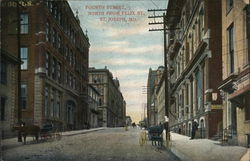 Fourth Street, North from Felix Street