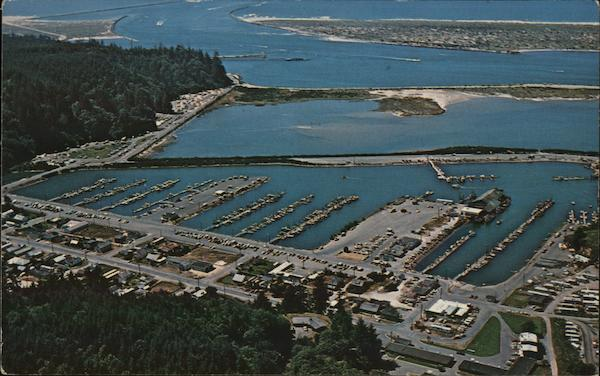 Aerial View of Salmon Harbor Winchester Bay Oregon