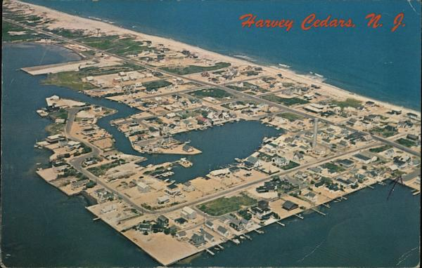 Aerial View of Harvey Cedars New Jersey
