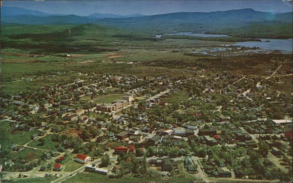 Aerial View of Tupper Lake, New York