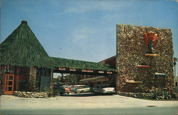 Royal Hawaiian Motel Daytona Beach Fl Postcard