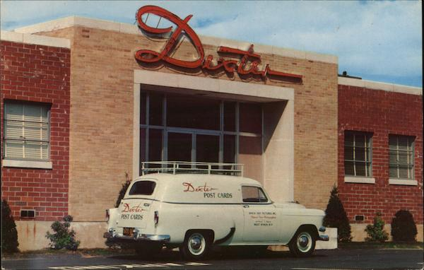 Dexter Post Cards Office & Station Wagon West Nyack New York