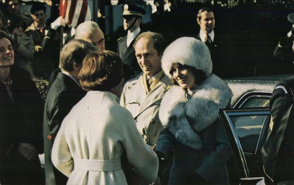 President and Mrs. Carter Welcome Pierre Trudeau Presidents
