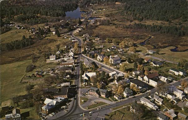 Aerial View of Chestertown New York