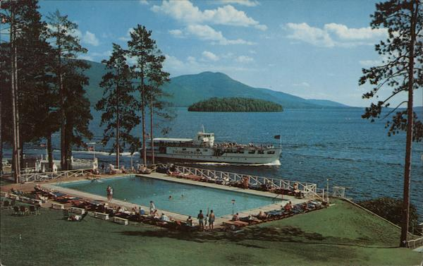 Looking South on Lake George From the Sagamore Hotel Green Island New York