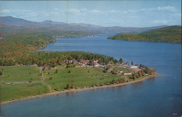 Aerial View Schroon Lake New York
