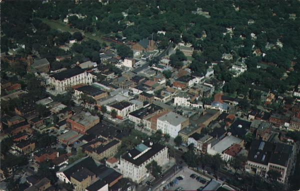 Aerial View of Saratoga Springs New York