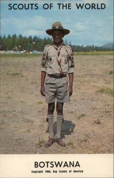 1968 Scouts of the World: Botswana Africa Boy Scouts