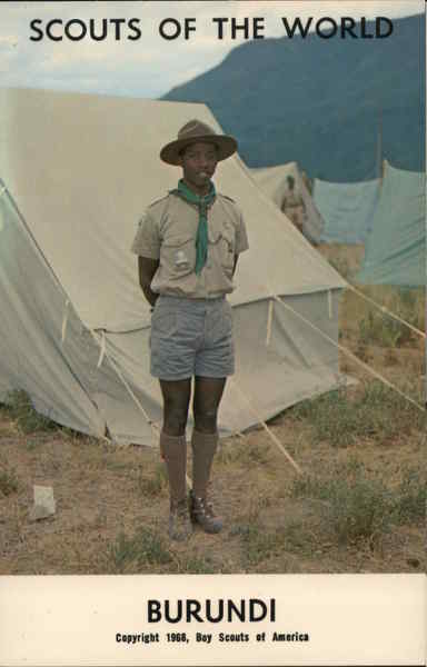 1968 Scouts of the World: Burundi Africa Boy Scouts