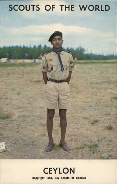 1968 Scouts of the World: Ceylon Southeast Asia Boy Scouts