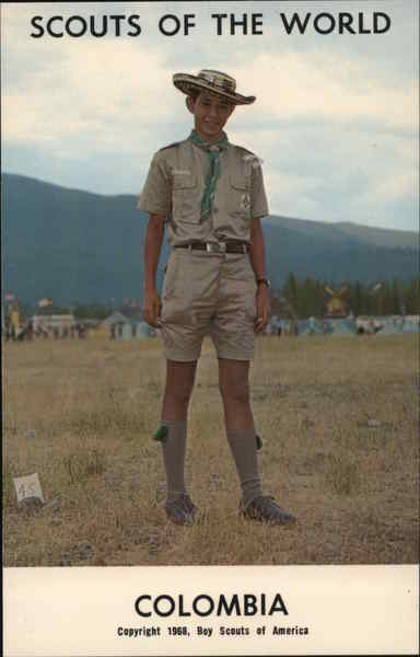 1968 Scouts of the World: Colombia South America Boy Scouts