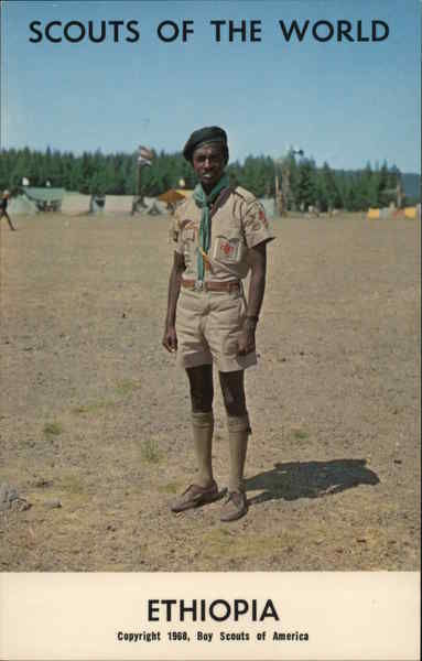 1968 Scouts of the World: Ethiopia Africa Boy Scouts