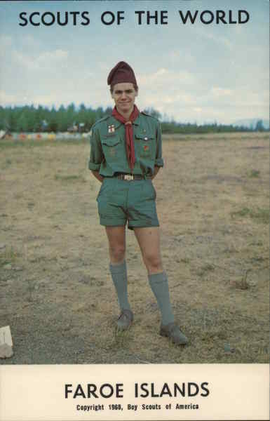 1968 Scouts of the World: Faroe Islands Denmark Boy Scouts
