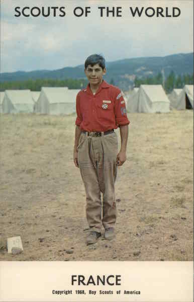 1968 Scouts of the World: France Boy Scouts