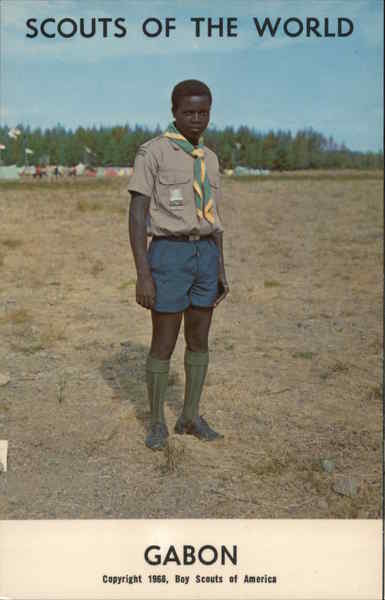 1968 Scouts of the World: Gabon Africa Boy Scouts