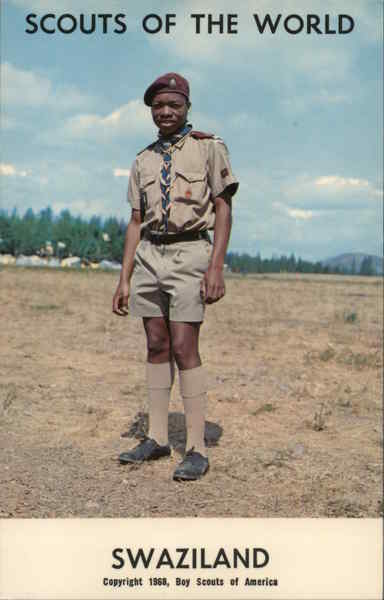 1968 Scouts of the World: Swaziland Africa Boy Scouts