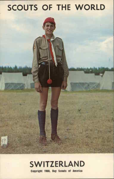 1968 Scouts of the World: Switzerland Boy Scouts