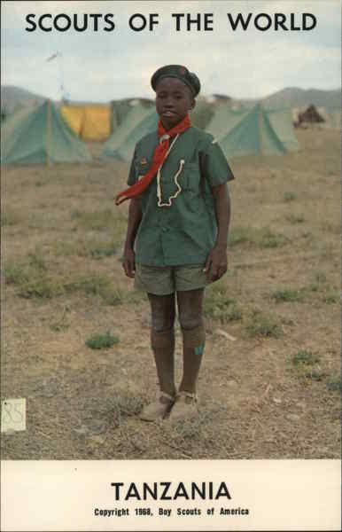 1968 Scouts of the World: Tanzania Africa Boy Scouts