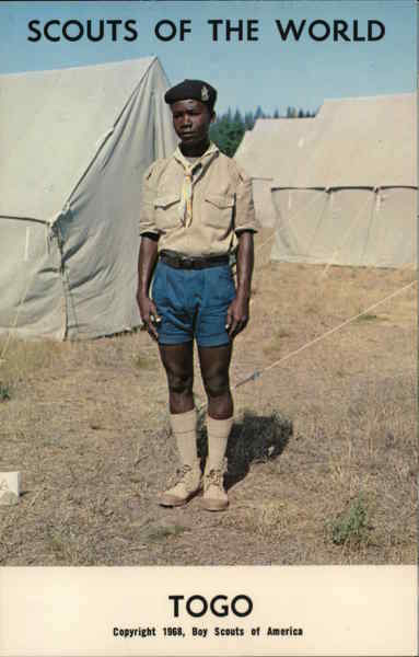 1968 Scouts of the World: Togo Africa Boy Scouts