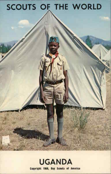 1968 Scouts of the World: Uganda Africa Boy Scouts