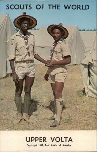 1968 Scouts of the World: Upper Volta Africa Boy Scouts