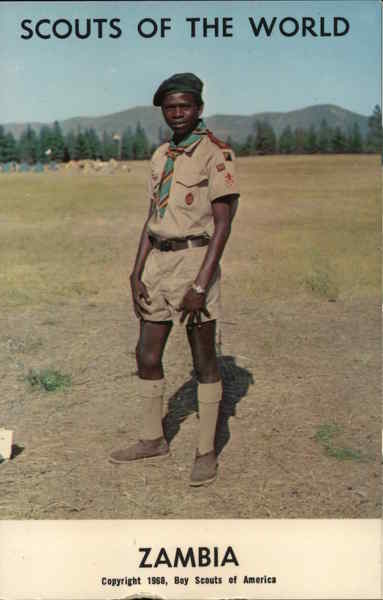 1968 Scouts of the World: Zambia Africa Boy Scouts