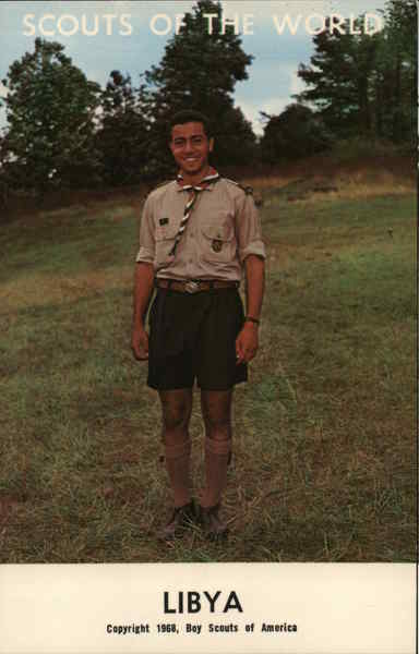 1968 Scouts of the World: Libya Africa Boy Scouts