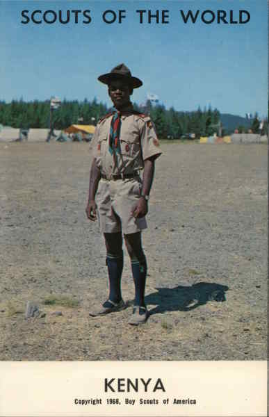 1968 Scouts of the World: Kenya Africa Boy Scouts