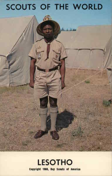 1968 Scouts of the World: Lesotho Africa Boy Scouts