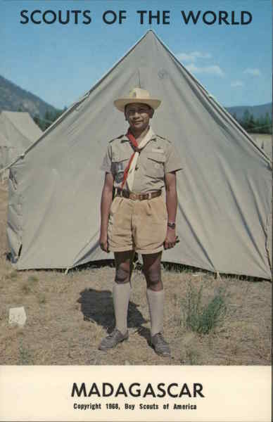 1968 Scouts of the World: Madagascar Africa Boy Scouts