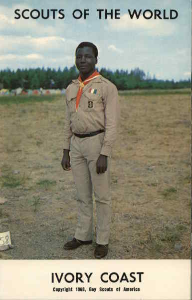 1968 Scouts of the World: Ivory Coast Africa Boy Scouts