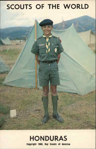 1968 Scouts of the World: Honduras Central America