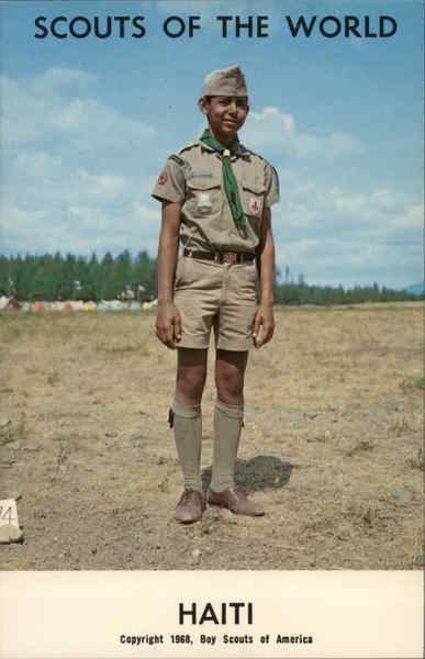 1968 Scouts of the World: Haiti Caribbean Islands Boy Scouts