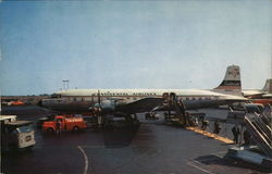 Continental Airlines DC7B Postcard